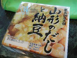 山形のだし+小粒納豆で夏味のさわやか納豆ってありだな