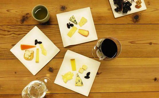 表参道でチーズの無料試食イベント。日本酒との勉強会も