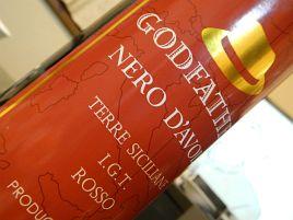 598円のシチリア産ワイン。その名も「ゴッドファーザー」